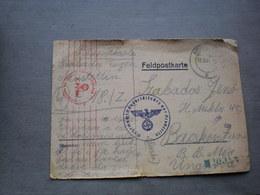 Feldpostkarten Neustettin Nowy Szczecin To Bacskereszrur Krstur 1944 - 1939-44: World War Two