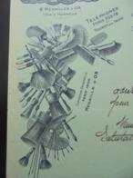FACTURE-10 - DEPARTEMENT DE L'AUBE - NOGENT SUR SEINE Et PARIS 1911 - BROSSES, PINCEAUX : LELOIR FRERES - BELLE DECO - France