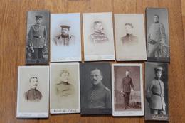 10 Photos Soldats Allemands De 1914 1918   Et XIX° Uniformes - Guerra, Militares