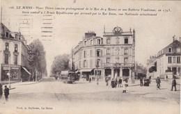 72. LE MANS. PLACE THIERS . ANIMATION ANNÉE 1945 + TEXTE - Le Mans