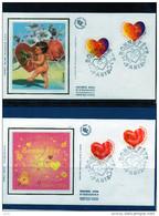 FDC  - 3218/21 - Coeurs Bonne Fète - 1990-1999
