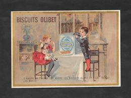 Chromo Doré Biscuits OLIBET ''D'abord Ma Poupée Les Adore..'' 7,8x12 OTTIMO STATO - Confetteria & Biscotti