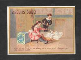 Chromo Doré Biscuits OLIBET ''bébé Sait Bien Que..'' 7,8x12 OTTIMO STATO - Confetteria & Biscotti