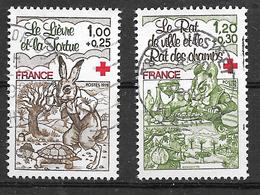 FRANCE 2024 2025 Croix-Rouge Fables De La Fontaine Lièvre Tortue Rat . - Gebruikt