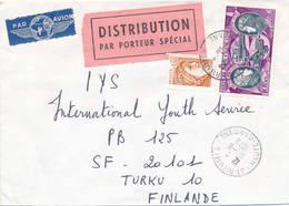 France 1979 A  Cover To Finland, DISTRIBUTION Paper Label - Documents De La Poste