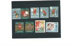 DANMARK DANEMARK X 9 Erinnophilie Timbre Divers états  Bien/ TB (me Demander)  1 Scan - Commemorative Labels