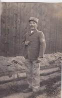 Militaria 1917 Carte Photo Prisonnier 152 Eme Régiment Infanterie De Ligne Matricule 74 Bouchez Leon De Coullons - Guerra 1914-18