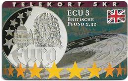 Denmark - Tele Danmark (Chip) - Ecu - England - TDP201 - 01.98, 800ex, Mint - Dänemark