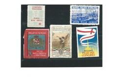 ITALIA ITALIE Erinnophilie X 5 Timbres Divers états  Bien/ TB (me Demander)  1 Scan Milano Genova Piemont - Commemorative Labels