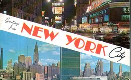 États -Unis : Greetings From New York City - Multi-vues, Vues Panoramiques