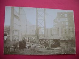 NOGENT-sur-SEINE  :  CARTE-PHOTO RARE  -   Catastrophe Du 11 Octobre 1911  -  La Grande Malterie S'est Effondrée - Nogent-sur-Seine