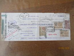 TIMBRES EFFET DE COMMERCE 40c,50c,10F,QUITTANCES 1F SUR TRAITE DU 15 DECEMBRE 1925 - Revenue Stamps