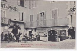 MONT LOUIS : Le Café Du Progrès Et L'horlogerie CAPELLE Sur La Place D'armes - Très Bon état - Autres Communes