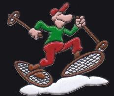 64951- Pin's.Ski De Fond.Raquettes.BD.Humour. - Wintersport