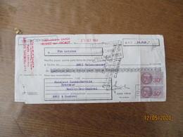 TIMBRES FISCAUX 30c (2) Et 1 FRANC SUR 1,80 FRANC (2) SUR TRAITE ETABLISSEMENTS GUIOT A FRESNES SUR ESCAUT DU 25 OCT 49 - Steuermarken