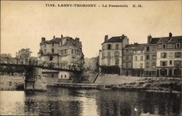 Cp Lagny Thorigny Seine Et Marne, La Passerelle - Autres Communes