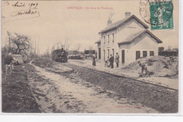GOUVILLE : La Gare Du Tramway (chemin De Fer) - Très Bon état - France