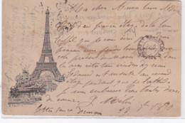 """PARIS 7 ème : Carte Postale De La Tour Eiffel """"LIBONIS"""" - état (pliée) - District 07"""