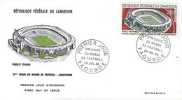 Federal Republic Of Cameroon - 1st Day Postmark - VIII Soccer World Cup - England 1966 - 1966 – Inglaterra