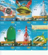 6 X Thailand Phonecard 12Call Movie Film Thunderbirds - Kino