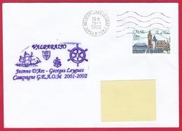 3989 Marine, PH Jeanne D'Arc, Campagne 2001-2002, Escale à Valparaiso, Chili, Oblit. Mécanique JDA, 18-01-2002, Calais ( - Posta Marittima