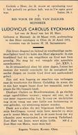 Hersselt, Olen, 1951, Ludovicus Eyckmans - Devotion Images