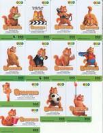 12 X Thailand Phonecard 12Call Movie Film Garfield Very Nice - Kino