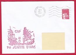 3998 Marine, PH Jeanne D'Arc, Campagne 2001-2002, Cap Horn, Oblit. Mécanique JDA, 29-01-2002, Marianne De Luquet (3998) - Posta Marittima