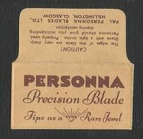 Razor Blade PERSONNA Old Vintage WRAPPER (see Sales Conditions) - Razor Blades