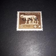 "PL0298 REGNO D'ITALIA 1943 SOPRASTAMPA G.N.R. 5 CENTE. BRUNO ""X"" - Nuevos"