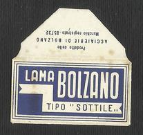 Razor Blade LAMA BOLZANO Old Vintage WRAPPER (see Sales Conditions) - Razor Blades