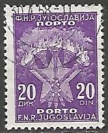 YOUGOSLAVIE / TAXE N° 118 OBLITERE - Portomarken