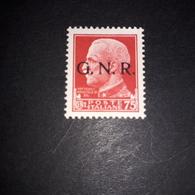 "PL0303 REGNO D'ITALIA 1943 SOPRASTAMPA G.N.R. 75 CENT. ROSSO ""X"" - Nuevos"