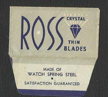 Razor Blade ROSS Old Vintage WRAPPER (see Sales Conditions) - Razor Blades