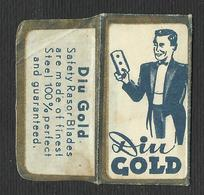 Razor Blade DIN GOLD Old Vintage WRAPPER (see Sales Conditions) - Razor Blades