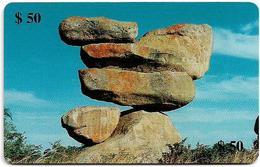 Zimbabwe - PTC - Suspended Rocks, Cn. 0019, Exp. 05.2000, 50Z$, 100.000ex, Used - Simbabwe