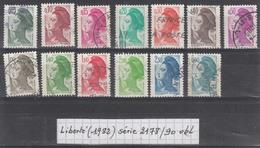 France Liberté De Gandon (1982) Y/T Série 2178/2190 Oblitérés (lot 1) - 1982-90 Liberté De Gandon