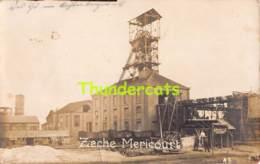 CPA 78 CARTE DE PHOTO MERICOURT ZECHE SITE CHARBONNAGE USINE - France