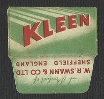 Razor Blade KLENN Old Vintage WRAPPER (see Sales Conditions) - Razor Blades