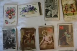 FANTAISIE - Lot D'environ 950 Cartes - Enfants - Bébés - Glacés - Gaufrées - Amoureux - Femmes - Fantaisies