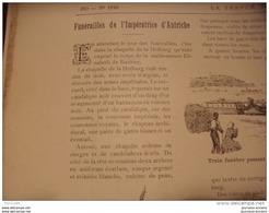 """1898 FUNERAILLES DE L'IMPERATRICE D'AUTRICHE """"SISSI"""" / CHRONIQUE DU PAYS D'ARMOR / BICYCLETTE /  LA FRANCE ILLUSTREE - Livres, BD, Revues"""