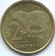 Uruguay - 2011 - 2 Pesos - Carpincho / Capybara - KM136 - Uruguay