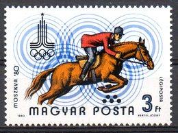 HONGRIE. PA 433 De 1980. Equitation Aux J.O. De Moscou. - Jumping