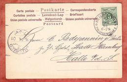 AK Abfahrt Des Columbus, Ziffer, Heilbronn Zweigpoststelle, Nach Halle Saale 1901 (93946) - Wurttemberg