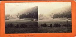 """GRUNDHOF-CHATEAU DE VILLERS """" - Carte Stereoscopie - Vue Sur Chateau - Berdorf"""