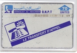 Carta Telefonica Marocco - Trasfert D'appel  -  Carte Telefoniche@Scheda@Schede@Phonecards@Telecarte@Telefonkarte - Marokko