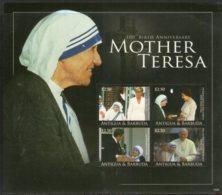 Antigua & Barbuda 2010 Mother Teresa Of India Nobel Prize Winner Sc 3101 M/s MNH # 9465 - Mother Teresa