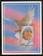 Burkina Faso 1998 Mother Teresa Of India Nobel Prize Winner Sc 1097 M/s MNH # 5950 - Mother Teresa