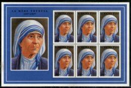 Burkina Faso 1998 Mother Teresa Of India Nobel Prize Winner Sc 1096 Sheetlet MNH # 7814 - Mother Teresa