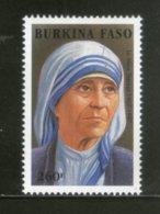 Burkina Faso 1998 Mother Teresa Of India Nobel Prize Winner Sc 1096 MNH # 997 - Mother Teresa